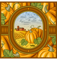 Pumpkin harvest vector image