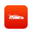 rally racing car icon digital red vector image vector image
