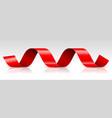 red ribbon streamer vector image vector image