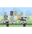 Residential house buildings vector image vector image