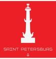 Saint Petersburg Rostral column line art vector image vector image