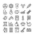 science and research laboratory study icons vector image vector image
