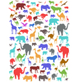 Seamless colorful african animals pattern vector | Price: 1 Credit (USD $1)