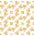 seamless pattern of letters vector image