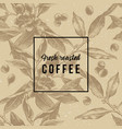 seamless pattern with hand drawn coffee branches vector image vector image