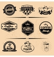 set of coffee labels design elements vector image vector image