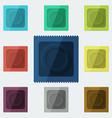 Set of semi-realistic condoms in different color vector image