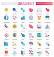 set trendy flat gradient sport equipment vector image