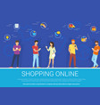 shopping online concept of vector image vector image