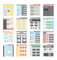simple flat website design templates icons