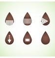 Six brown abstract drops eps10 vector image