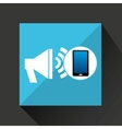 smartphone speaker social network media icon vector image vector image