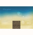 sun sea sand beach with glare vector image vector image