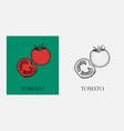 tomato slice tomato organic food vector image