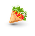 tortilla wrap cartoon mexican vector image