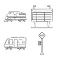 train and station icon vector image