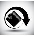 Wallet simple single color icon vector image
