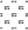 Warehouse icon in black style isolated on white vector image