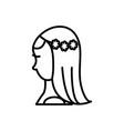 bride line icon sign on vector image