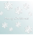 Simple merry christmas background vector image