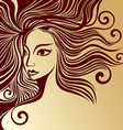a Girls Face vector image vector image