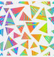 abstract bright triangle pattern vector image