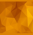 abstract orange polygonal mosaic background vector image vector image