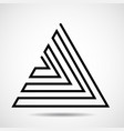 abstract triangle of line design element vector image