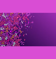 abstract worms pattern with different shades vector image