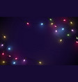 abstract xmas sparkling lights garland background vector image