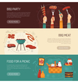 Barbecue Party Horizontal Banners vector image vector image