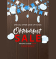 beautiful flyer for oktoberfest sale vector image vector image