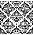 Black and white arabesque seamless pattern design vector image