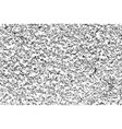 black grainy texture isolated on white background vector image