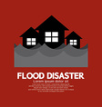 Building Soaking Under Flood Disaster vector image vector image