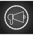 Bullhorn megaphone line icon vector image