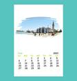 calendar sheet layout june month 2021 year vector image vector image