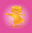 cat cartoon vector image vector image