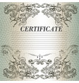 certificate design in vintage style vector image