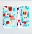 christmas card with snowman vector image