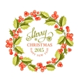 Christmas mistletoe wreath vector image