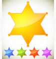 classic western sheriff badge sheriff star vector image