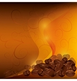 Coffee background with pattern vector image vector image