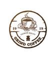coffee grinder logo vector image