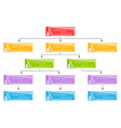 colorful business structure concept vector image vector image