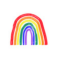 colorful simple rainbow icon emblem or logo vector image vector image
