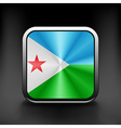 Djibouti icon flag national travel icon country vector image