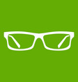 eye glasses icon green vector image vector image