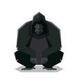 flat geometric gorilla vector image vector image