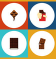 flat icon bitter set of shaped box dessert vector image vector image